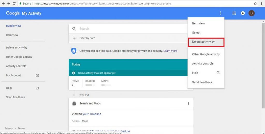 Download and Delete on Google Everything Knows About You